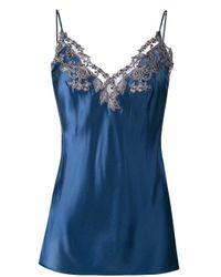 La Perla   Blue Lace Trim Camisole   Lyst