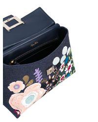 Roger Vivier - Blue Viv Cabas Medium Denim Top-handle Satchel Bag - Lyst