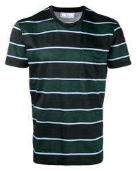 AMI | Black Vertical Striped T-shirt for Men | Lyst
