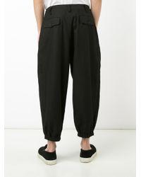 Yohji Yamamoto - Black Panel Pocket Pants for Men - Lyst