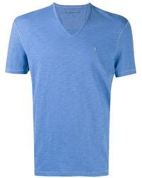 John Varvatos | Blue V-neck T-shirt for Men | Lyst