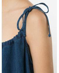 Sea | Blue Spaghetti Strap Tent Dress | Lyst