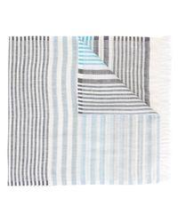 Ferragamo   Blue Striped Scarf for Men   Lyst