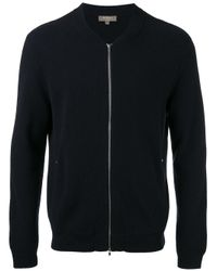 N.Peal Cashmere   Blue Zip Up Cardigan for Men   Lyst