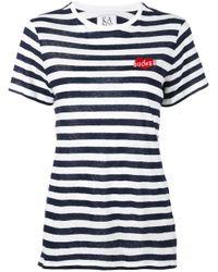 Zoe Karssen - White Sucker Embroidered T-shirt - Lyst