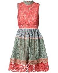 Alexis | Multicolor Lace Skater Dress | Lyst
