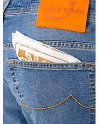 Jacob Cohen - Blue Contrast Brand Patch Jeans for Men - Lyst