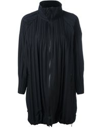 Pleats Please Issey Miyake | Black High Neck Pleated Jacket | Lyst