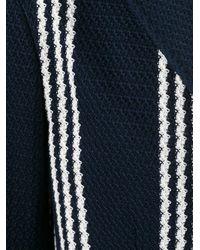 Tagliatore - Blue Striped Blazer for Men - Lyst