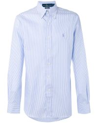 Polo Ralph Lauren | White Fitted Striped Shirt for Men | Lyst