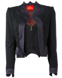 Vivienne Westwood | Black Layered Zip Cropped Jacket | Lyst