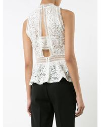 Rebecca Taylor | White Lace Detail Top | Lyst