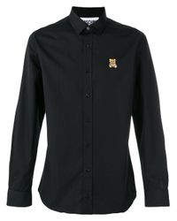 Moschino | Black Toy Bear Logo Shirt for Men | Lyst