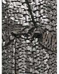 IRO - Gray Metallic Peplum Dress - Lyst