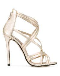 strappy stiletto pumps - Metallic Marc Ellis Latest Sale Online qW9Yb