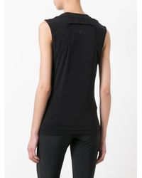 Y-3 - Black Layered Racer Back Vest - Lyst
