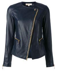 MICHAEL Michael Kors | Black Chain Trim Jacket | Lyst