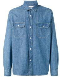 Our Legacy | Blue Chest Pockets Denim Shirt for Men | Lyst
