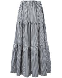 P.A.R.O.S.H. | Gray Long Tiered Skirt | Lyst