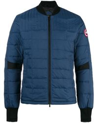 Canada Goose | Blue - Quilted Bomber Jacket - Men - Nylon/polyester - S for Men | Lyst