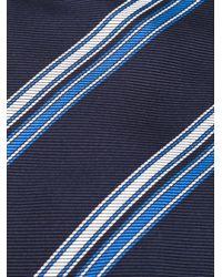 Etro - Blue Striped Tie for Men - Lyst
