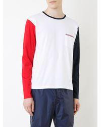 Thom Browne - White Colourblock T-shirt for Men - Lyst