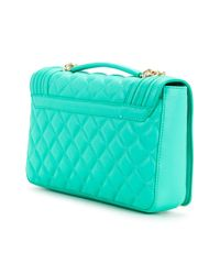 Love Moschino - Green Quilted Shoulder Bag - Lyst