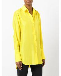 JOSEPH - Yellow Classic Shirt - Lyst