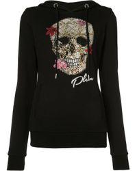 Philipp Plein | Black Skull Print Hoodie | Lyst