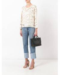 See By Chloé - White Knitted Top - Lyst