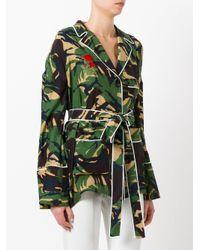 Off-White c/o Virgil Abloh - Green Pyjama Belted Blouse - Lyst