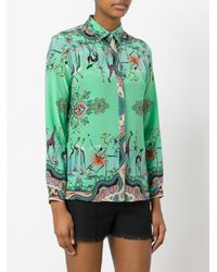Etro | Green Printed Blouse | Lyst
