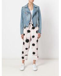 DIESEL | Pink Bow Detail Pjama Trousers | Lyst