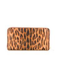 Sophie Hulme - Brown Leopard Print Zipped Wallet - Lyst