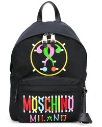Moschino | Black - Milano Question Mark Backpack - Women - Cotton/polyurethane - One Size | Lyst