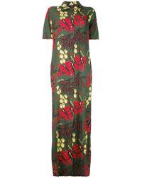 P.A.R.O.S.H. | Green Hawaiian Maxi Dress | Lyst