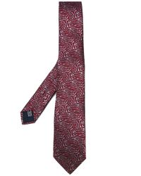 Lanvin | Red Squiggle Pattern Tie for Men | Lyst