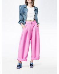Natasha Zinko | Bubblegum Pink Turn-up Carrot Trousers | Lyst