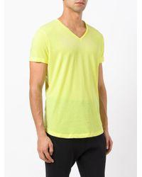 Orlebar Brown - Yellow V-neck T-shirt for Men - Lyst