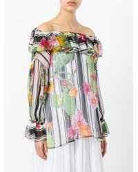 Blugirl Blumarine - Multicolor Floral Print Blouse - Lyst