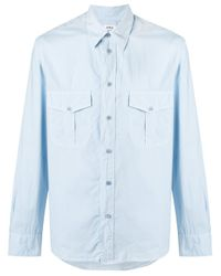Aspesi | Blue Two Pocket Shirt for Men | Lyst