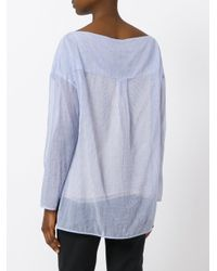 Theory - Blue Striped Top - Lyst