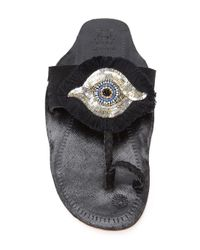 Figue   Black Evil Eye Sandals   Lyst