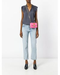 Designinverso - Pink Studded Cross Body Bag - Lyst