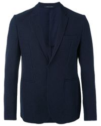 Emporio Armani | Blue Multi-pockets Blazer for Men | Lyst
