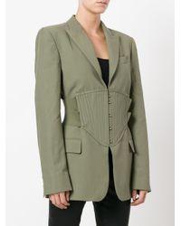 Stella McCartney | Green Corset Waist Blazer | Lyst