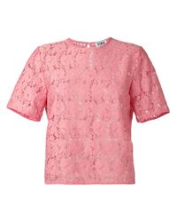 Sonia by Sonia Rykiel - Pink Embroidered T-shirt - Lyst