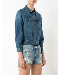 3x1 - Blue Cropped Denim Jacket - Lyst