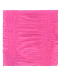 Armani | Pink Pleated Scarf | Lyst