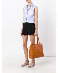 Sonia by Sonia Rykiel - Blue Tricolour Sleeveless Shirt - Lyst